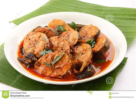 fish cuisine spicy fish curry from indian cuisine banana leaf