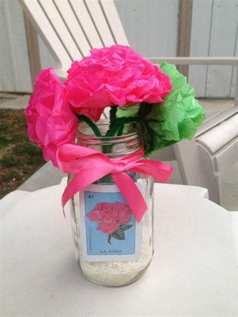 Mason Jar Centerpiece For Mexican Party Paper Flowers Mexican Centerpieces Ideas