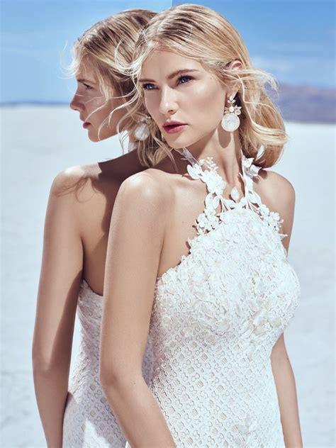 Hq 10501 Silhouette Halter Gown Redblueblack sottero and midgley 2018 khloe collection elegantwedding ca