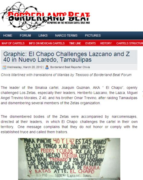 Bordir Bet cartel king el chapo getting vicious along mexico