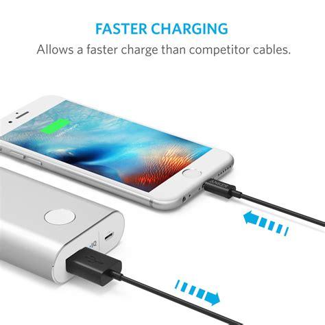 Kabel Data Iphone Lightning Usb Anker Powerline 6ft 18m 1 kabel iphone lightning 3ft anker a7101h12 kabel charger iphone premium
