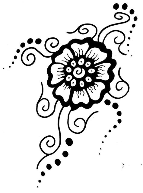 henna tattoo stencils free printable flower stencil patterns mehndi flower by