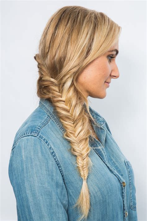 Fish Braids Hairstyles by And Fishtail Braid Tutorial Popsugar