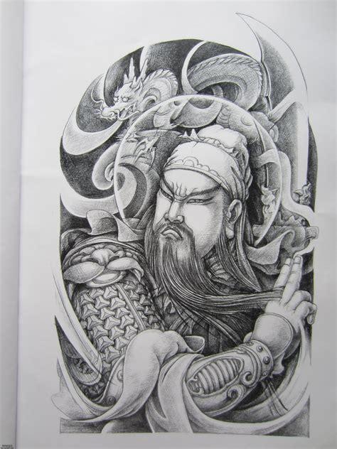 关公缠龙纹身图案内容图片分享
