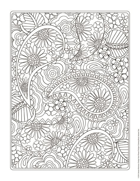 Flower Design Coloring Pages flower designs coloring book jenean morrison design