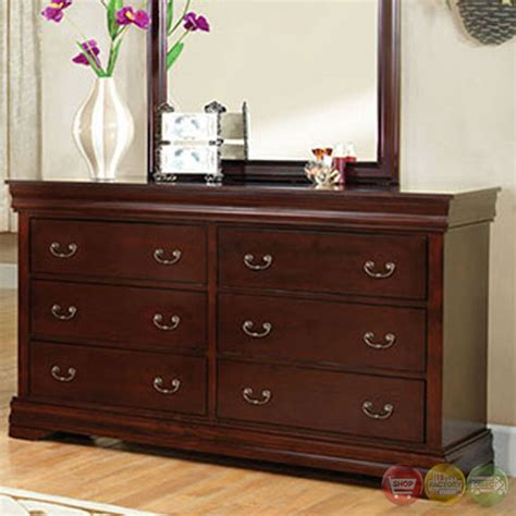 Traditional Cherry Bedroom Furniture Louis Philippe Iii Traditional Cherry Sleigh Bedroom Set Cm7816ch