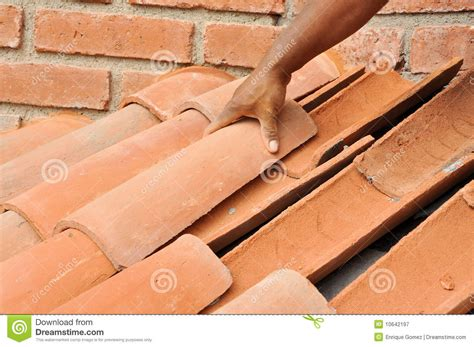 Tile Roof Installation Tile Roof Installation Royalty Free Stock Photography Image 10642197