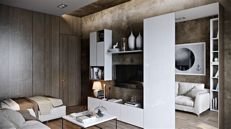 modern wood paneling 4 posh apartment interior design in a small space