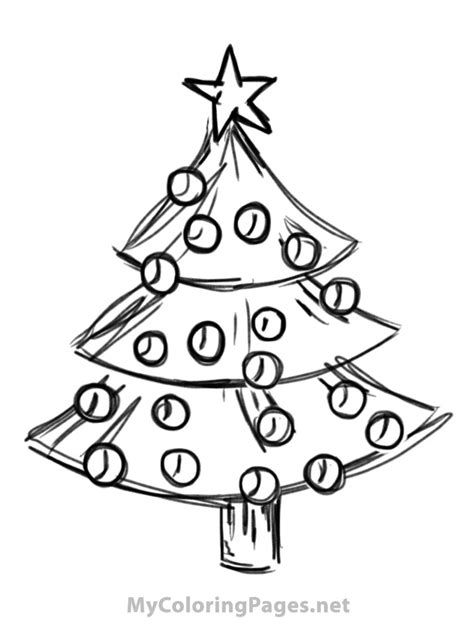 Coloring Pages Images For Christmas Tree With Presents Tree Coloring Pages With Presents