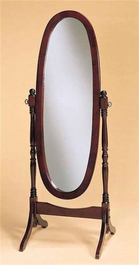 Bedroom Mirror On Stand Chy Length Oval Floor Standing Mirror Wood Swivel