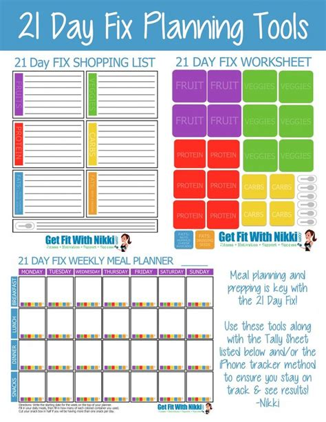 printable shakeology recipes 21 day fix planning tools diet exercise pinterest