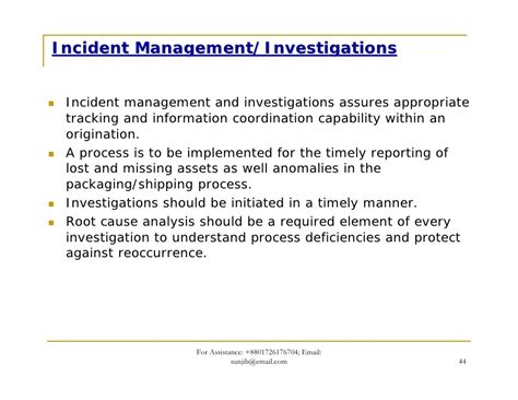 Incident Report Sle Letter For Damaged Item Gsv C Tpat Scs Presentation