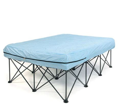 portable bed frame for air filled mattresses with