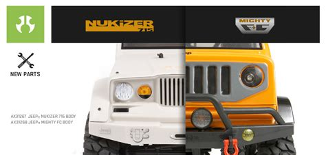 jeep nukizer axial jeep nukizer 715 e mighty fc nuove carrozzerie axial