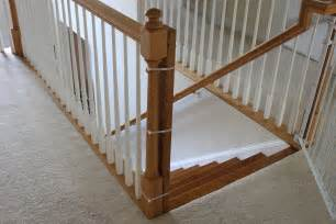 how to install a banister installing a baby gate without drilling into a banister