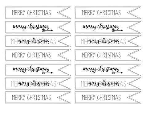 merry christmas tag  printable paper trail design