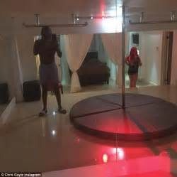 mirror on ceiling above bed cricketer chris gayle who made a pass at mel mclaughlin s