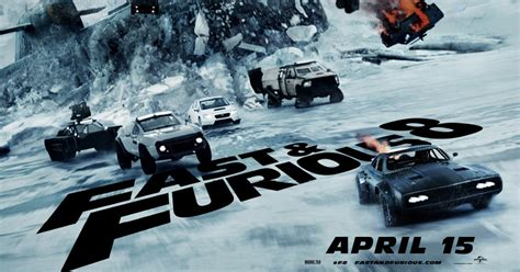 fast and furious 8 duration new fast furious 8 poster is ice bound pelikula mania