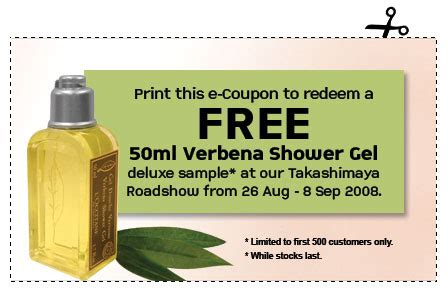 Loccitane Gel Shower Gel 50ml Free 50ml L Occitane Verbena Shower Gel