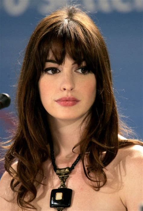 short layers are from the devil best 25 anne hathaway bangs ideas on pinterest anne