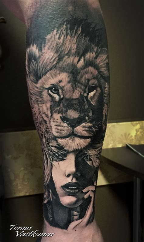 girl lion tattoo designs best 25 ideas on
