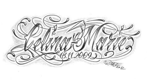 chicano lettering name tattoo design