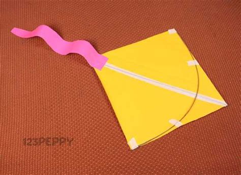 Make A Paper Kite - paper crafts project ideas 123peppy