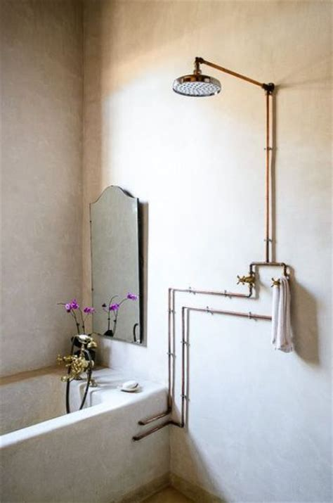 exposed bathroom plumbing industrial eye candy 40 pipes home decor ideas digsdigs