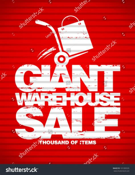 Warehouse Sale by Warehouse Sale Design Template With Truck Stock Vector Illustration 101309335