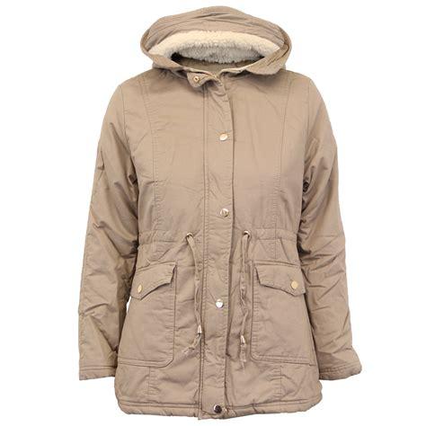 Fleece Coat jacket coat padded quilted hooded sherpa fleece