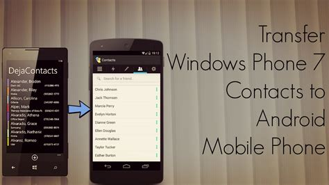 how to transfer contacts between android phones transfer windows phone 7 contacts to android mobile phone