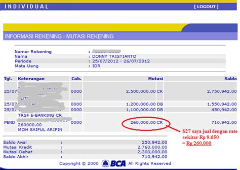 bca sms banking strategi jss tripler by justbeenpaid update bukti