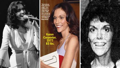 karen carpenter anorexia before and after karen carpenter anorexia 110 pounds and counting