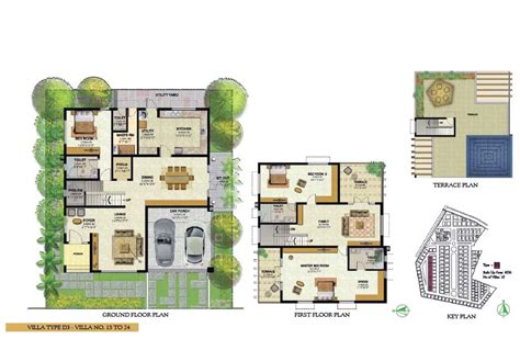 Semi Detached House Floor Plan prestige royal woods hyderabad telangana india luxury