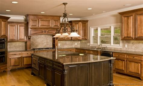 brown kitchen cabinets country kitchen backsplash ideas