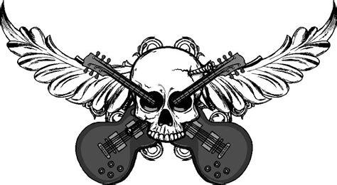 Transformer Wall Stickers skull guitar wall decal custom wall graphics