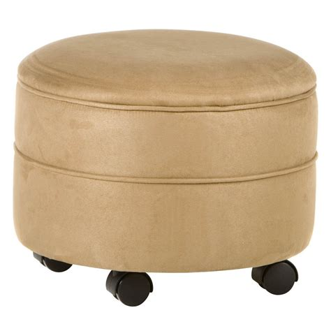 ottoman with shelf underneath furniture amazing round storage ottoman for home