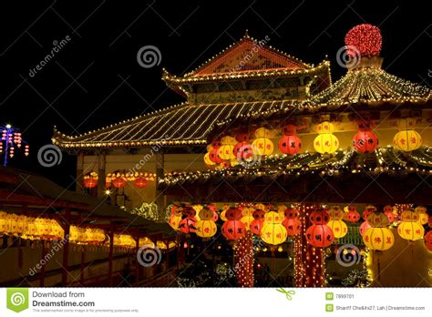 new year temple temple lighted up for new year stock image image