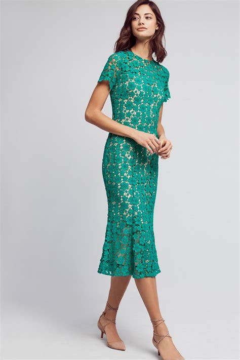 Lace Midi Dress Bysi symphony lace midi dress anthropologie