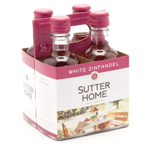 sutter home white zinfandel 187ml 4 pack wine
