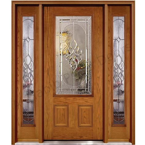Decorative Wall Panels Home Depot by Ash Wood Glass Panel Door Hpd451 Glass Panel Doors Al