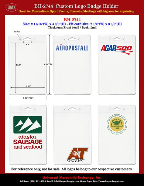 id card design and size umx company logo printed id holder credit card size