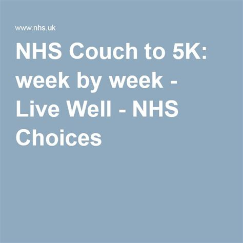 Potato To 5k Nhs by Best 25 To 5k Plan Ideas On To 5k