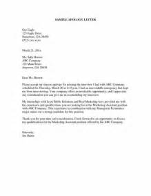 Apology Letter Sle For Missing A Meeting Apology Letters Print Paper Templates