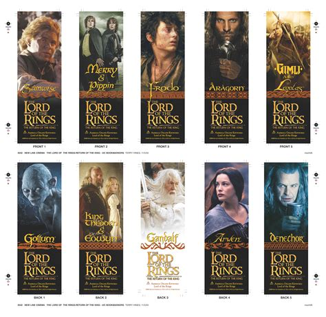printable bookmarks lord of the rings 26 million lord of the rings bookmarks help deliver youth