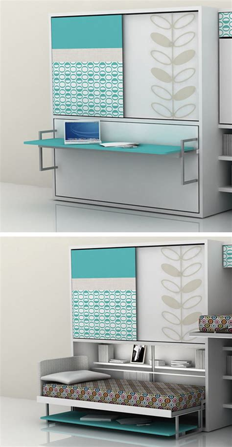 transforming furniture quot poppi quot desk bed combo by clei