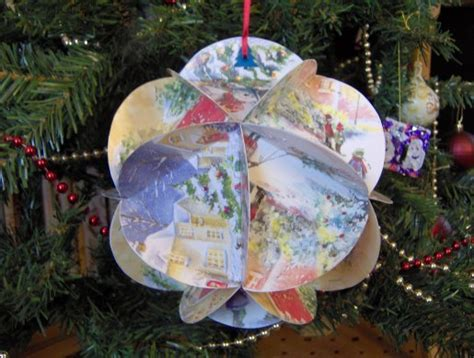 How To Make A Paper Bauble - tarragon thyme preparations crafts 2012 part 1