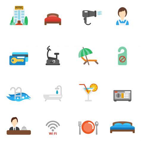 Wohnung Icon by Hotel Wohnung Icon Set Der Kostenlosen Vektor