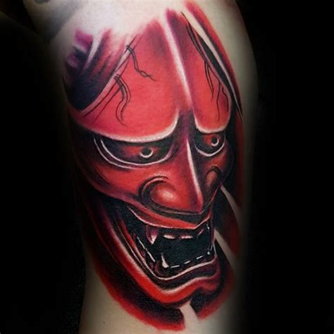 red hannya mask tattoo designs 100 hannya mask tattoo designs for men japanese ink ideas