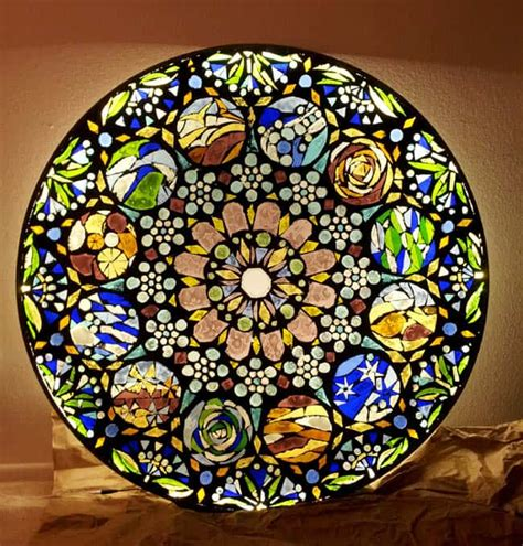 glass mosaic pattern maker how to make stained glass mosaic wall light